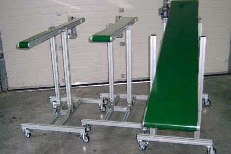 Hevederes szállítópályák gyártása